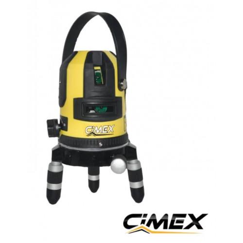 Laser level with green beam CIMEX SL1H4VG
