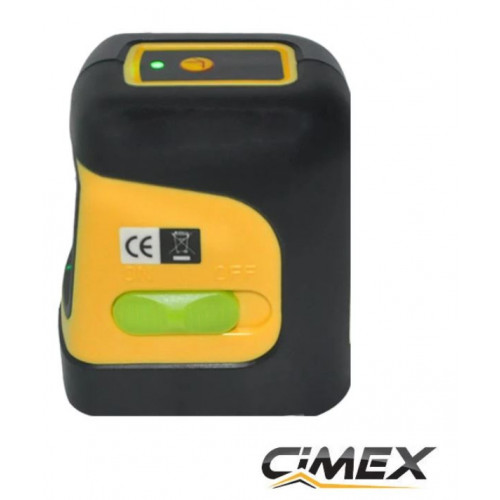 Laser level with green beam - crossed lines CIMEX SL10MG