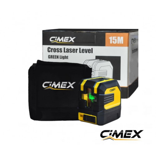 Laser level with green beam and crossed lines Cimex  1H1V-G