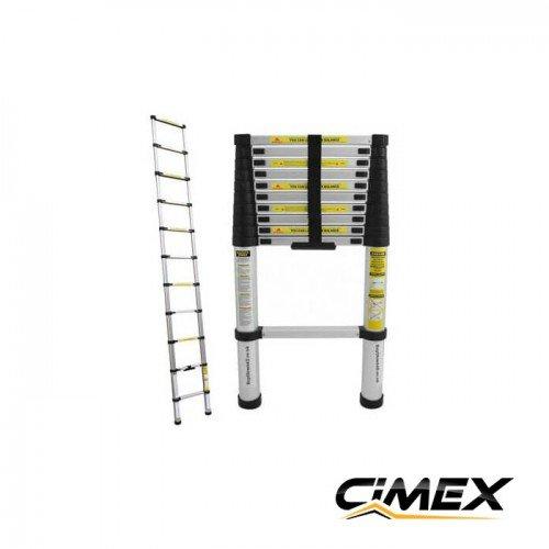 Telescopic aluminum ladder 3.8 m