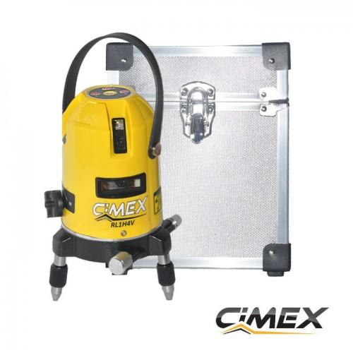 Line laser with 5 beam, self-leveling CIMEX 1H4V