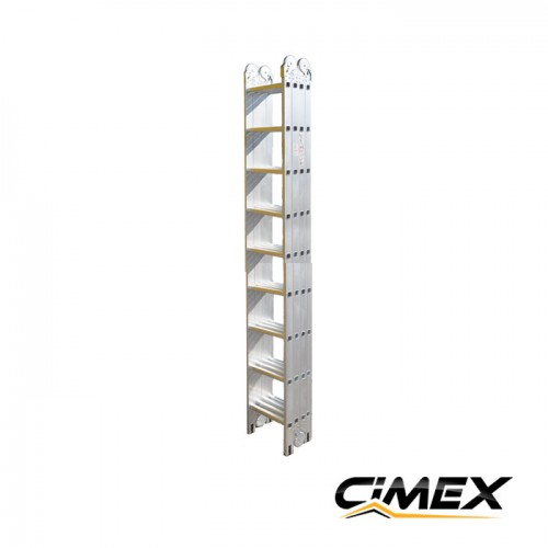 Multifunctional aluminium ladder CIMEX 10.40 m, (4х9)