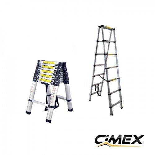 Telescopic A-shaped ladder CIMEX DBL TELELADDER2, 2 m